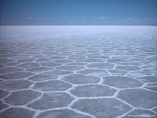 La salina più grande del mondo odierno: la Salar de Uyuni, in Bolivia. Il Mediterraneo nel Messiniano doveva presentarsi così in molti punti (da Google)