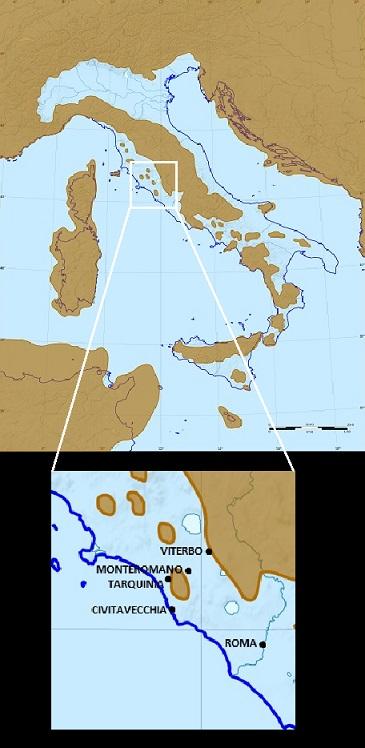 L'Italia e la Tuscia nel Pliocene.