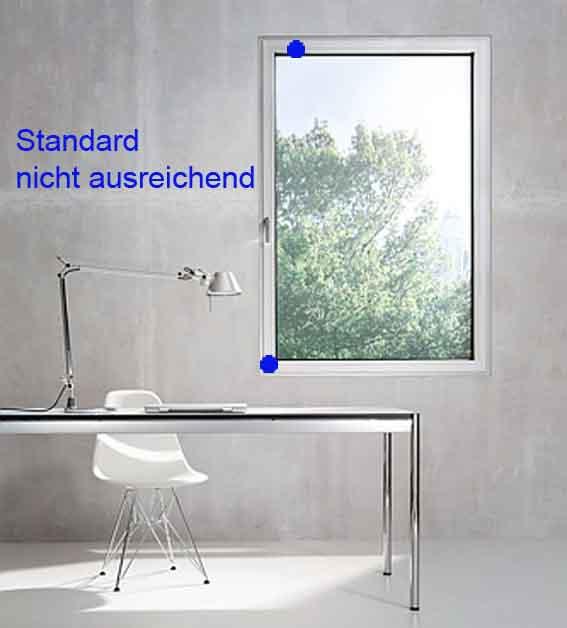 Standardsicherungen sind nicht ausreichend gegen aufhebeln von Fenstern und Terrassentüren
