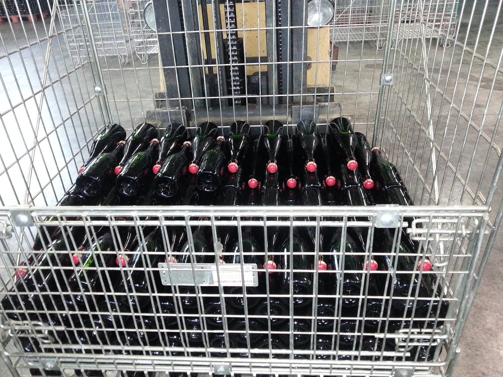 bouteilles prêtes à déguster
