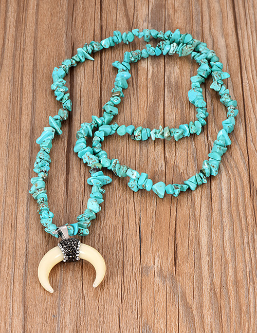 Sautoir corne & turquoise
