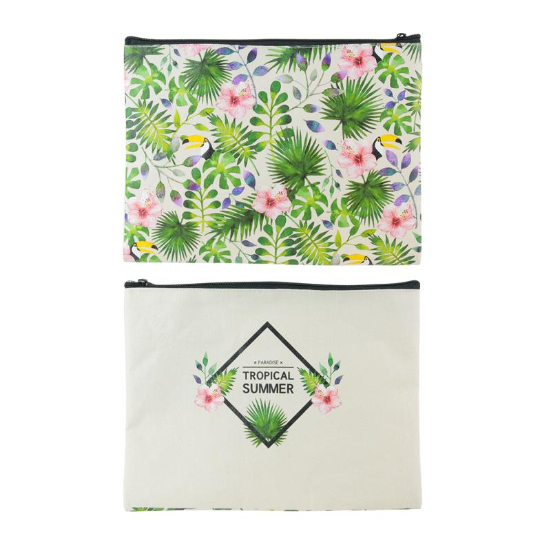 "Pochette en toile ""Tropical summer"""