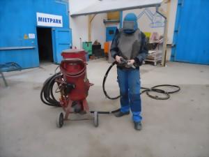 Sandstrahlgerät Niederdruck 60 l