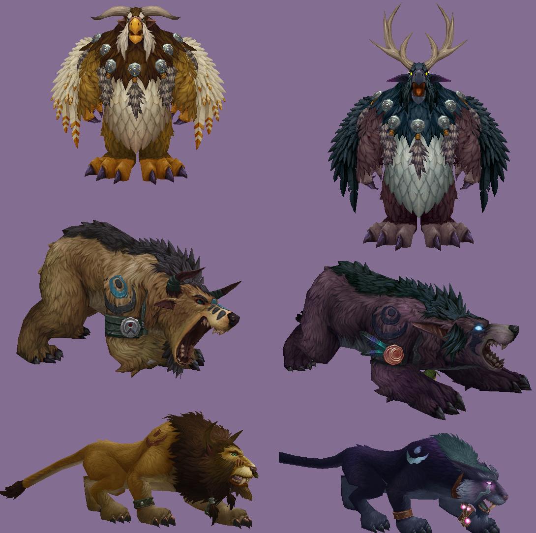 Die verbesserten Druidenformen.