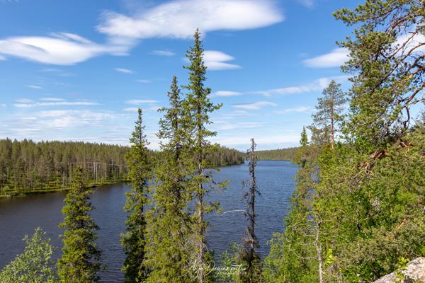 Aussicht über den Äkäsjoki