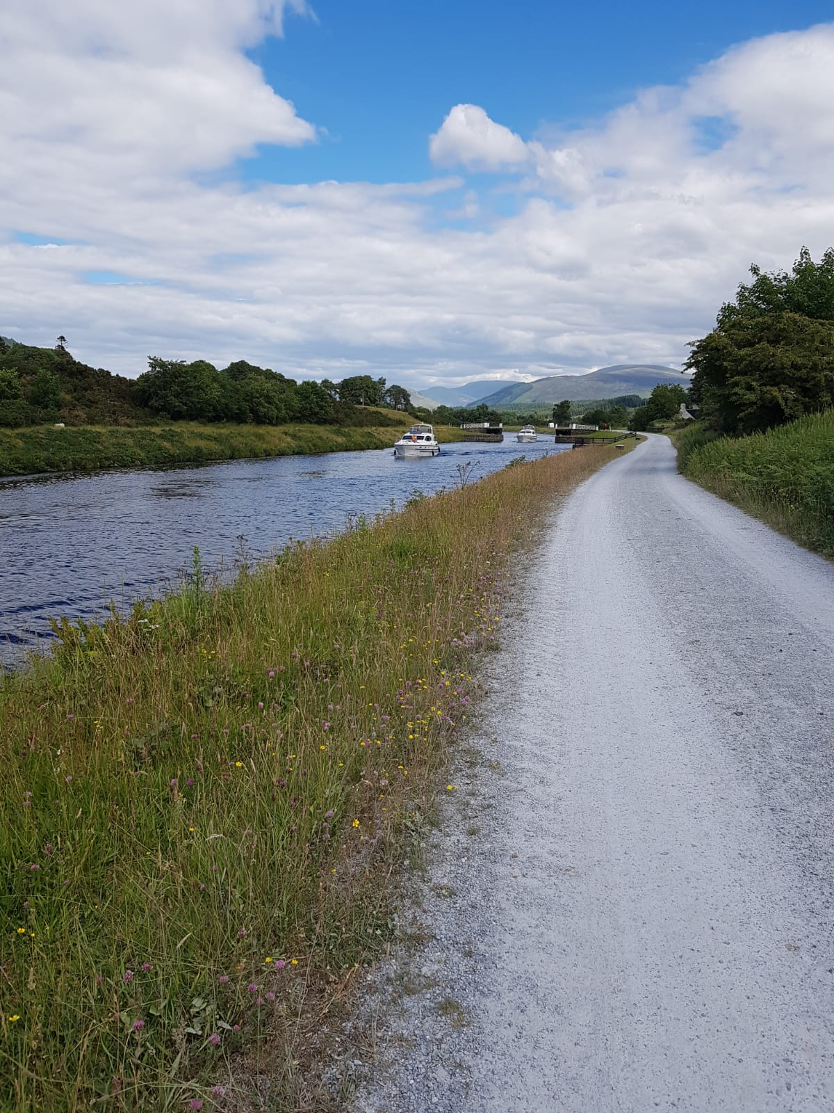 along the caledonian canal