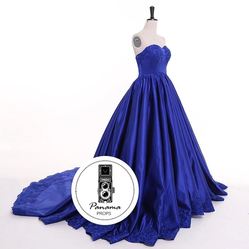 a1d3ede51 Vestido de Gala Azul Royal