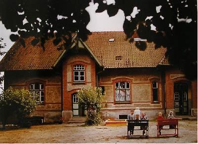 Schulhof um 1950