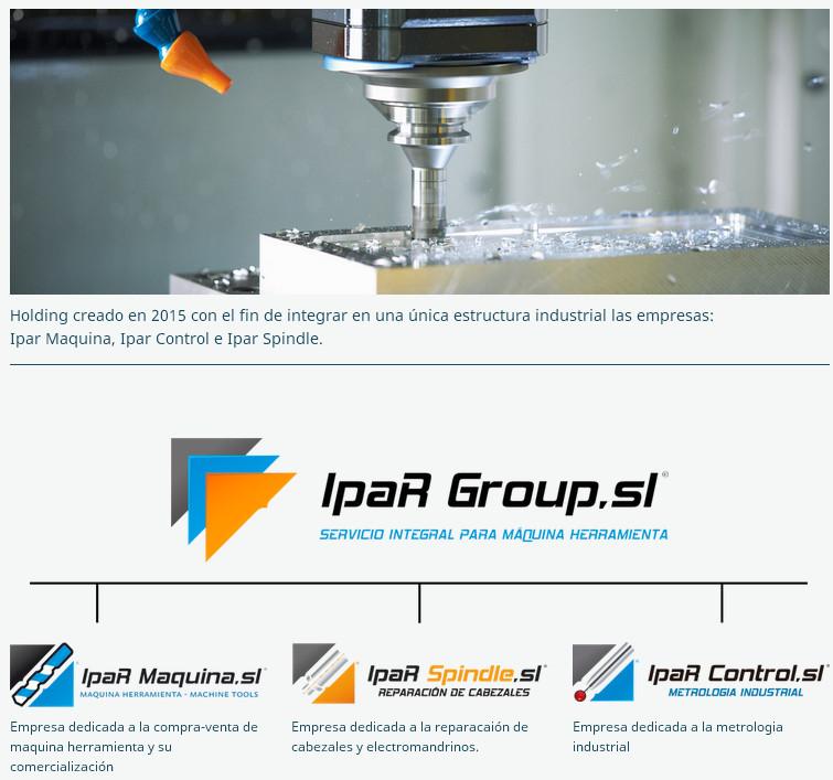 Grupo Ipar Ipar Maquina Ipar Control Ipar Spindle Reparacion Segunda mano Compra Venta Maquinas