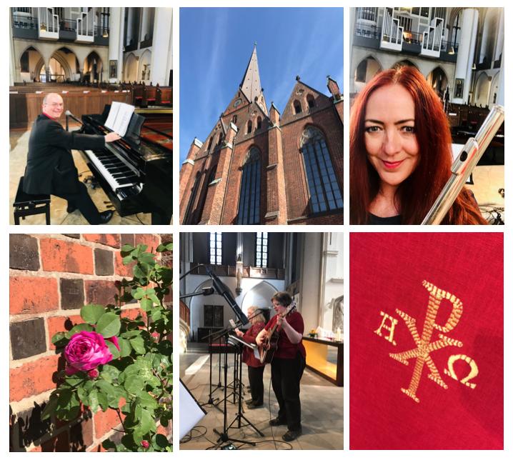 Pfingsten mit der Lobpreisgruppe Felsenfest am 21.5.2018 in der Hauptkirche St. Petri. Leitung: Thomas Fassnacht.