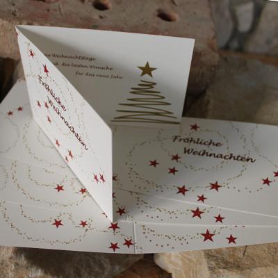 Weihnachtsklappkarte DIN A6