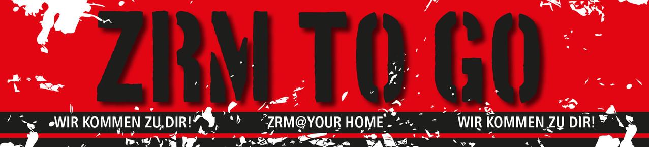 Logoentwicklung ZRM TO GO Probefahrt Zuhause