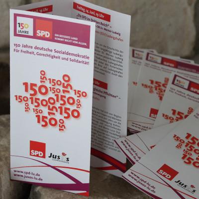 SPD Ludwigshafen 150 Jahre Infofolder