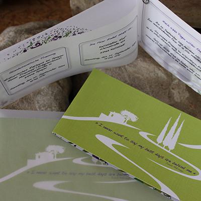 Hochzeitseinladung Leinenpapier mit Einleger Transparentpapier + Umschlag Transparent