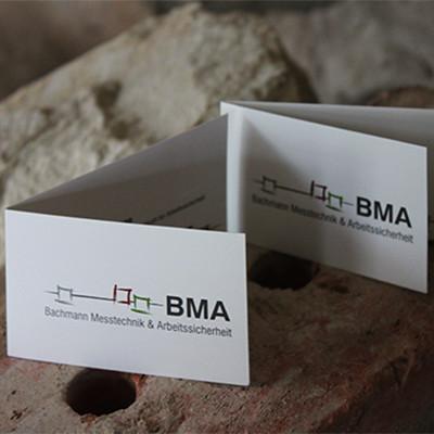 BMA Klappvisitenkarten
