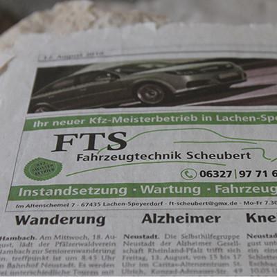 FTS Zeitungsannounce