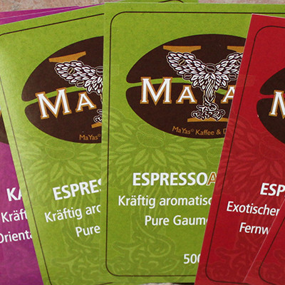 MaYas Kaffeeetiketten selbstklebend