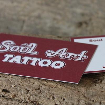 SoulArt Tattoostudio Visitenkarten Standard
