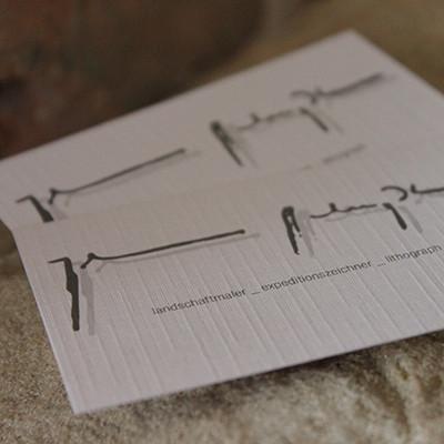 Johannes Schießl Visitenkarten Leinenpapier
