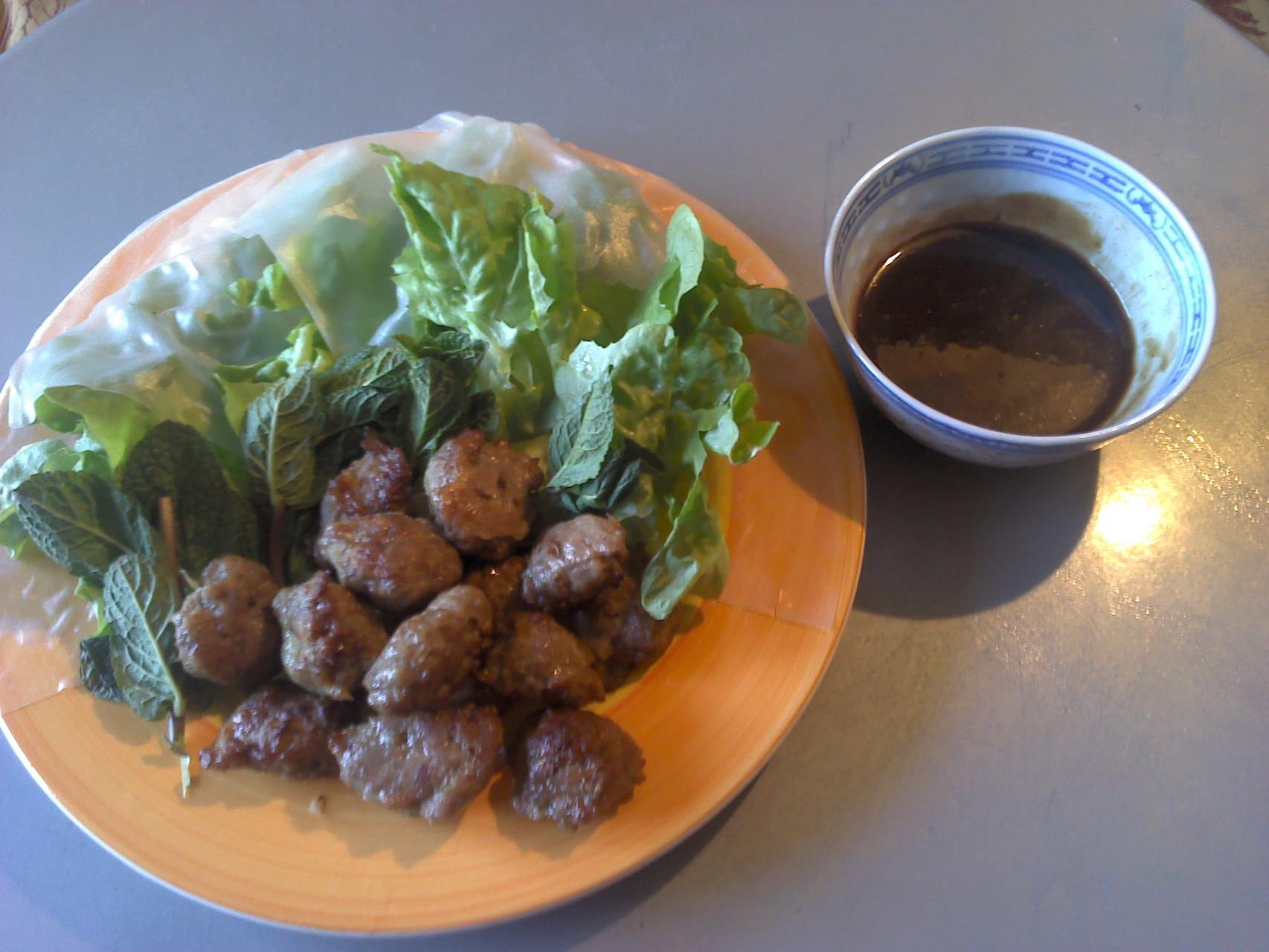 Nem Nioug, Boulettes de porc vietnamiennes