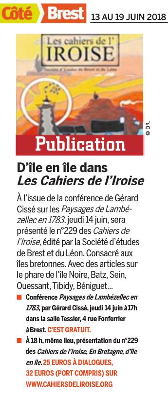 Côté Brest, du 13 au 19 juin 2018