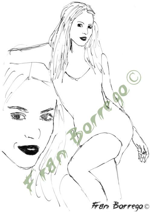 Shakira (boceto)