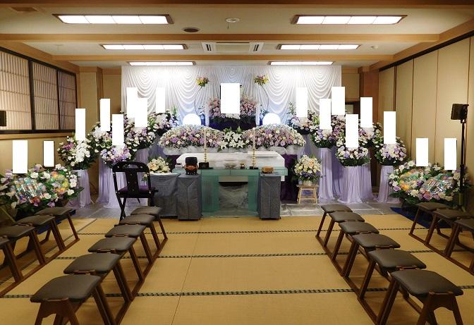 妙典寺での生花祭壇