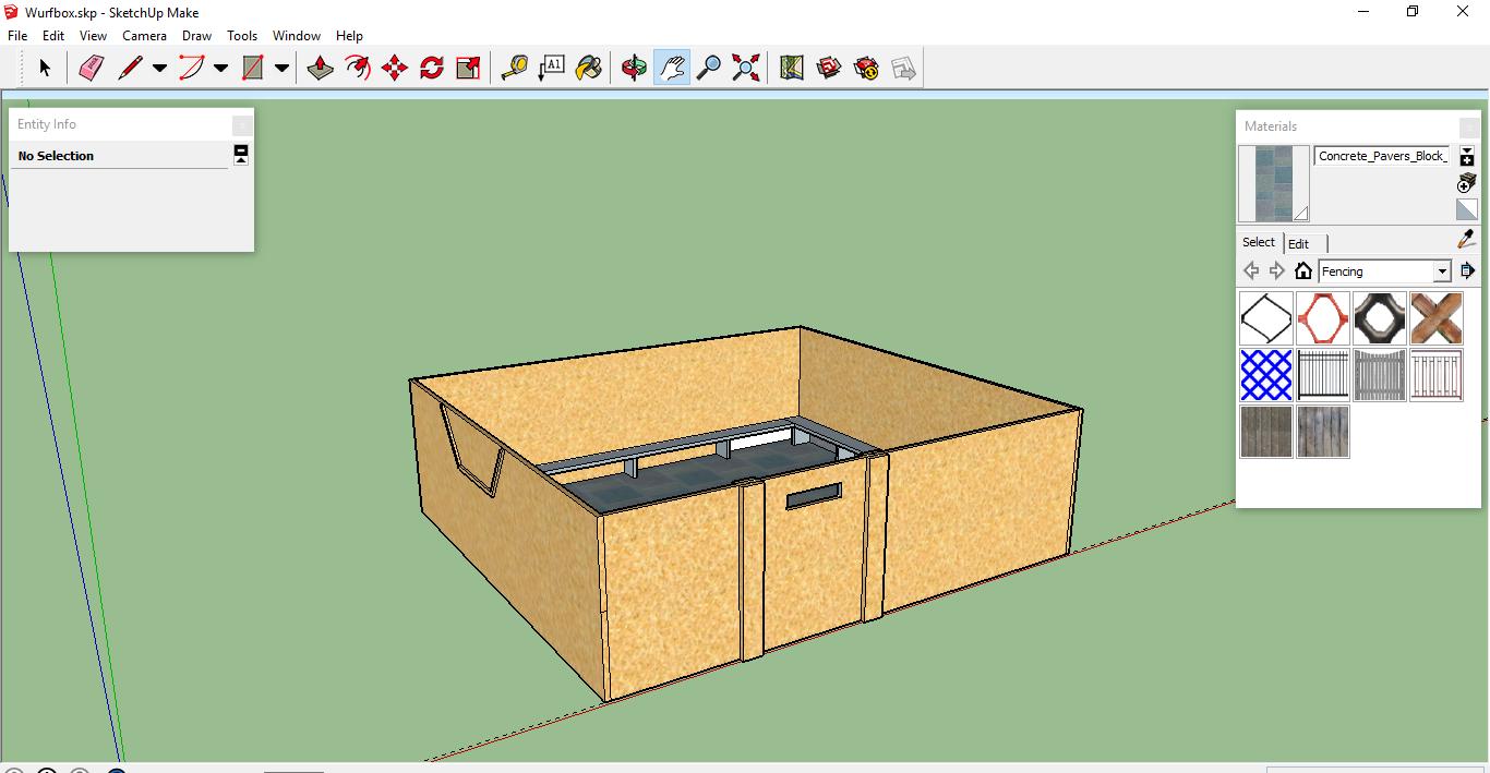 meine ersten Entwurfzeichnungen für unsere Welpenbox