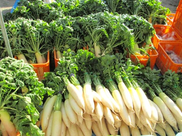 大根などの地元野菜もどっさり!