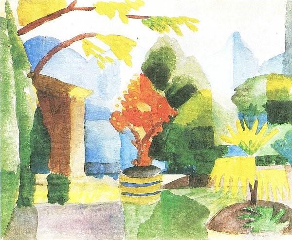 August Macke - Garten in Hilterfingen