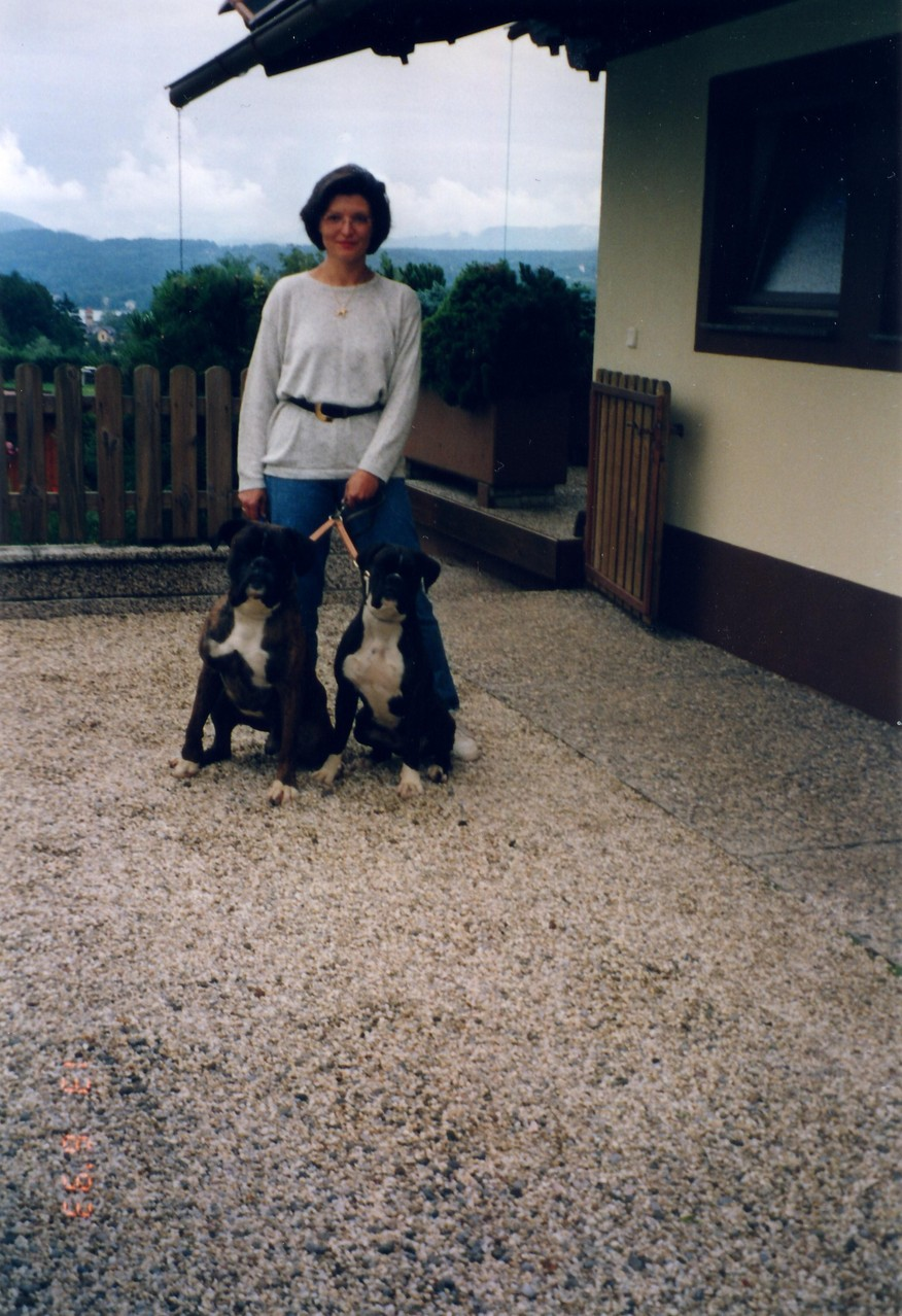 Akim von der Keltenburg (links) und Tochter Isabell von Helenia, Europameisterin Atibox 1997