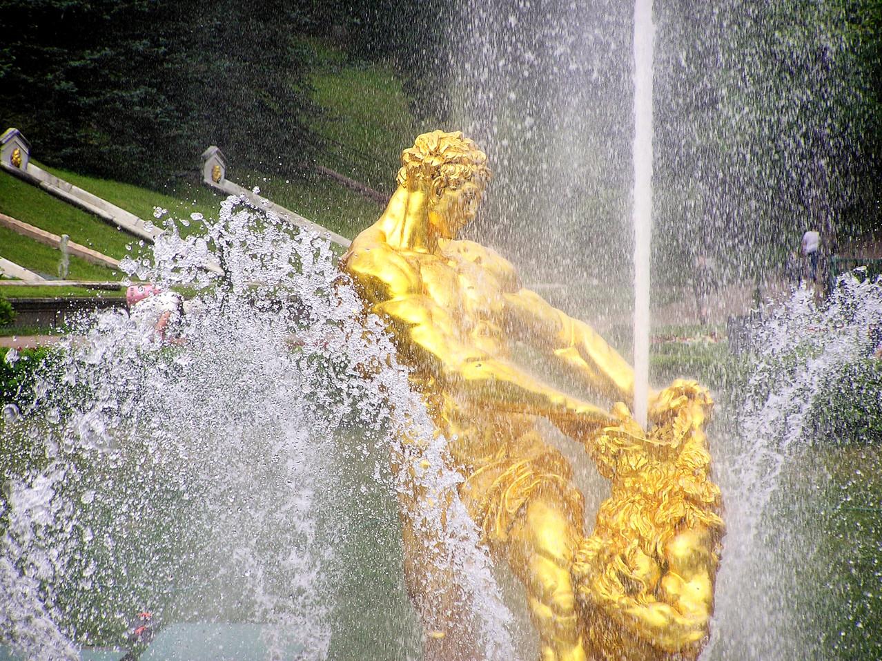 Samson bezwingt den Löwen - Symbol des Sieges über Schweden