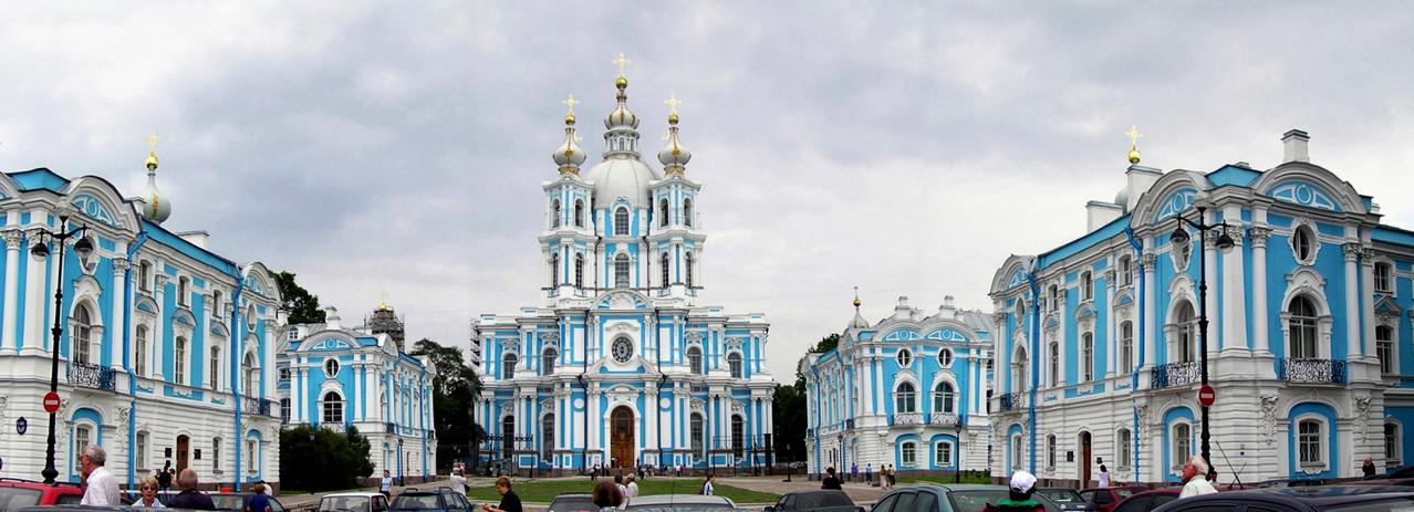 Smolnji-Kloster mit Auferstehungskathedrale aus Mitte 18. Jhdt