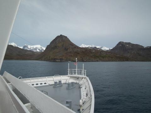 die nächste Landung in Grytviken,wo es eine Siedlung gibt, ...