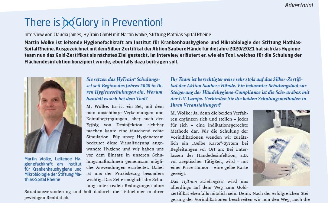 Hygiene & Medizin: Das Mathias-Spital in Rheine berichtet über den Einsatz des HyTrain® Schulungssets