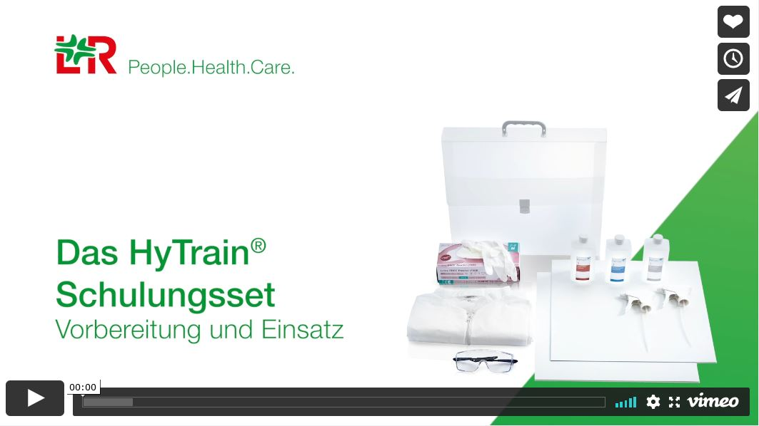 Anwendungs-Video: Wie Lohmann & Rauscher das HyTrain® Schulungsset für Hygieneschulungen nutzt