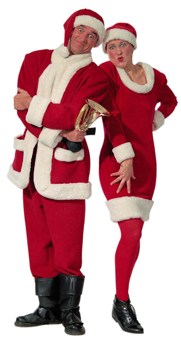 Ohne Bart und ohne Bauch, dafür mit Weihnachtsfrau!