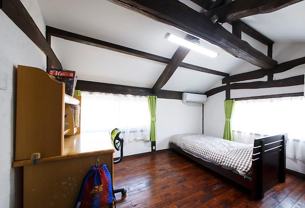 東南の角部屋の良さを活かした南側の子ども室