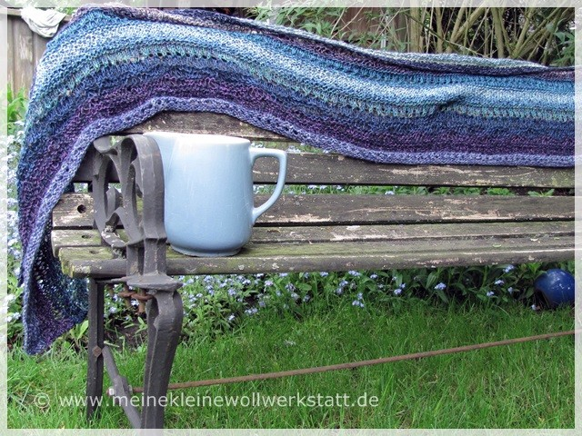 "Schal ""Stitch Sampler Shawl"" von /On This Day Desing"" bei ravelry / Wolle: Resteverwertung"