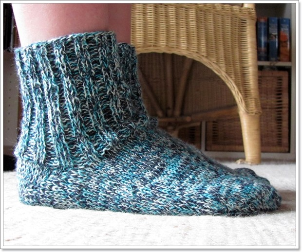 """Socken Gr. 38 / Wolle: """"Aqua"""""""