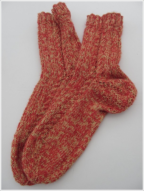 """Socken Gr. 39 / Wolle: """"Vitaminbombe"""" / Verbrauch 70g"""