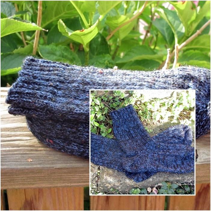 "Socken Gr. 44 / Wolle: ""Atlantis"" LL 274m/100g / Verbrauch 86g"