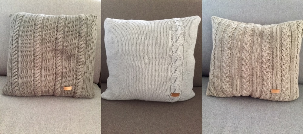 Kissen aus 6-fädigen Unigarnen / gestrickt von Maren Moser