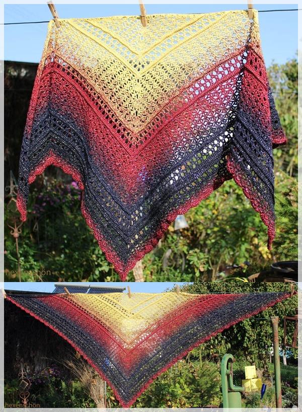 My precious-Tuch von Morben Design / Wolle: Wunschwicklung 1000m / gehäkelt von Magdalena Palm