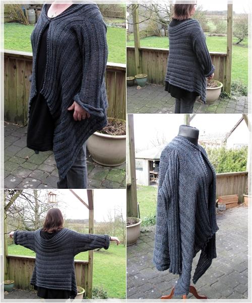 """Strickjacke """"Nimm dir Zeit"""" von knitcat.blogspot bzw. florentine bei ravelry / Wolle: 500g Nachtgehölz / NS 4,0"""