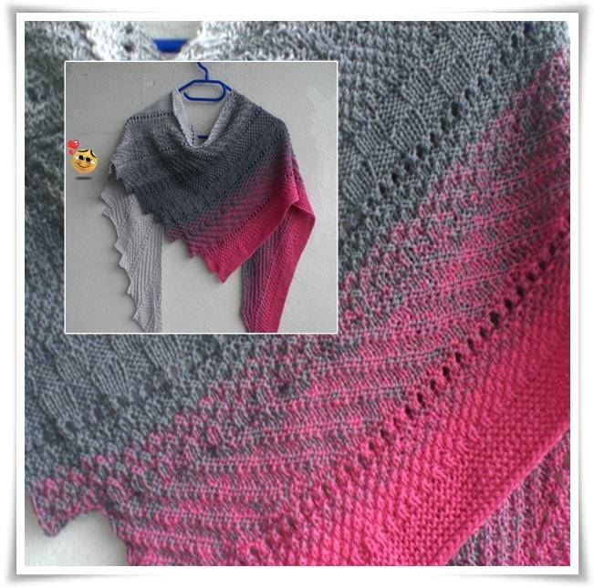 """Tuch """"Polymix"""" von Nessenti Ott aus """"Pink Clouds"""" / NS 3,5 / gestrickt von Sabine Berger"""