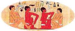 古代エジプト アンク・マホールの壁画