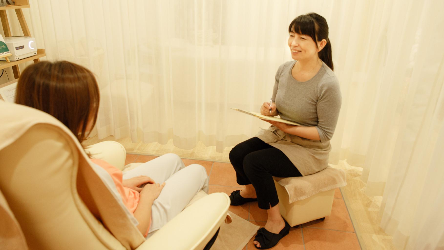 お客様の声をしっかりとお伺いし一人一人にあった施術を行います。