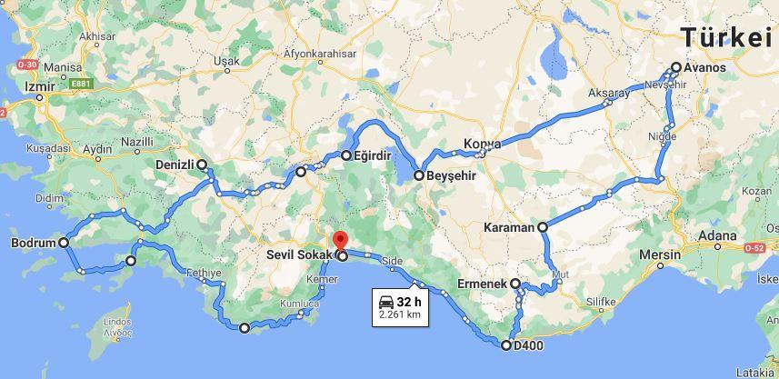 Türkei-Route