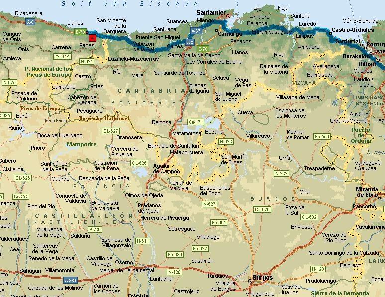 vor Ort: Touren bis Burgos